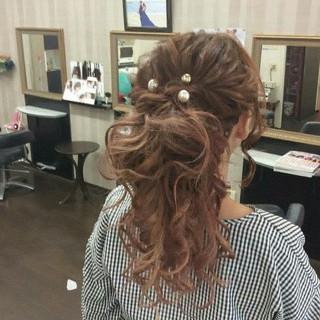 ポニーテール 結婚式 ナチュラル ロング ヘアスタイルや髪型の写真・画像 ヘアスタイルや髪型の写真・画像