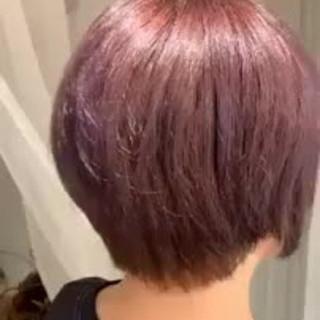 ボブ アンニュイほつれヘア モテ髪 秋冬ショート ヘアスタイルや髪型の写真・画像