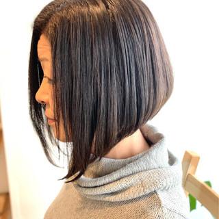 前下がりボブ 大人女子 髪質改善 エレガント ヘアスタイルや髪型の写真・画像