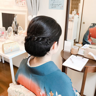 エレガント ロング ヘアアレンジ 着物 ヘアスタイルや髪型の写真・画像