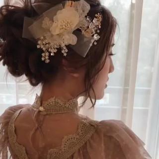 結婚式 大人女子 大人かわいい ロング ヘアスタイルや髪型の写真・画像