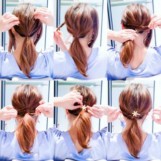 セルフヘアアレンジ ロング セルフアレンジ エレガント ヘアスタイルや髪型の写真・画像