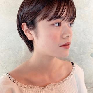 秋 ショートヘア フェミニン ショート ヘアスタイルや髪型の写真・画像