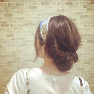 ヘアアレンジ ヘアアクセ デート ギブソンタック ヘアスタイルや髪型の写真・画像 ヘアスタイルや髪型の写真・画像