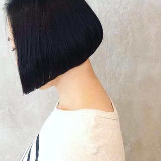 外国人風 ストレート ボブ 大人女子 ヘアスタイルや髪型の写真・画像