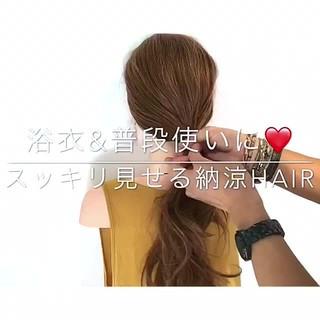簡単ヘアアレンジ 女子会 色気 フェミニン ヘアスタイルや髪型の写真・画像