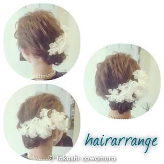 ヘアアレンジ コンサバ ボブ 結婚式 ヘアスタイルや髪型の写真・画像