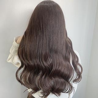 モカベージュ アンニュイ 韓国ヘア ロング ヘアスタイルや髪型の写真・画像