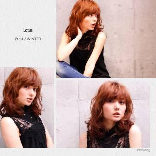 モテ髪 フェミニン ナチュラル ウェーブ ヘアスタイルや髪型の写真・画像