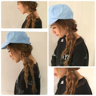 モード キャップ ショート 簡単ヘアアレンジ ヘアスタイルや髪型の写真・画像