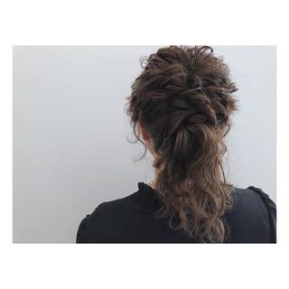 ショート 結婚式 ヘアアレンジ セミロング ヘアスタイルや髪型の写真・画像