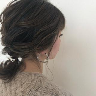 イルミナカラー エレガント ヘアアレンジ 結婚式 ヘアスタイルや髪型の写真・画像