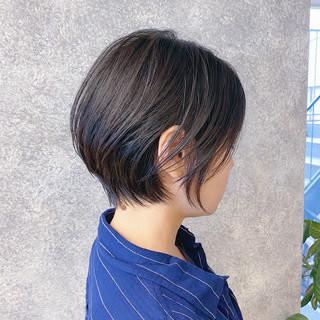 ナチュラル 丸みショート ショート ショートヘア ヘアスタイルや髪型の写真・画像