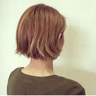 ボブ 外ハネ 外国人風 外国人風カラー ヘアスタイルや髪型の写真・画像