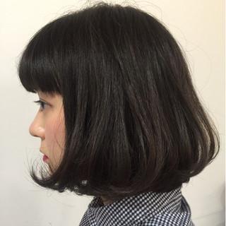 ガーリー ワンカール ボブ 簡単 ヘアスタイルや髪型の写真・画像