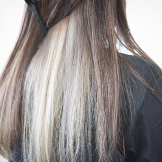 インナーカラーグレージュ インナーカラー グレージュ ミルクティーグレージュ ヘアスタイルや髪型の写真・画像 ヘアスタイルや髪型の写真・画像