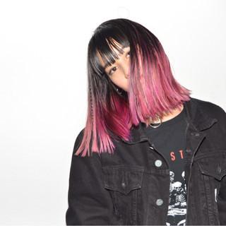 三つ編み ピンク ヘアアレンジ グラデーションカラー ヘアスタイルや髪型の写真・画像 ヘアスタイルや髪型の写真・画像