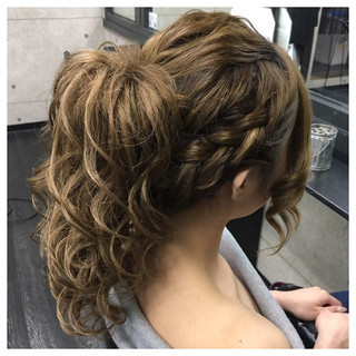 ヘアアレンジ ロング ゆるふわ エレガント ヘアスタイルや髪型の写真・画像 ヘアスタイルや髪型の写真・画像