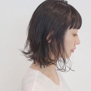 外国人風 ボブ リラックス ナチュラル ヘアスタイルや髪型の写真・画像