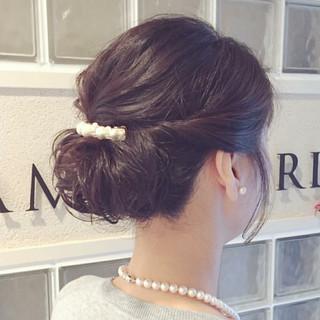 結婚式 簡単ヘアアレンジ パーティ ナチュラル ヘアスタイルや髪型の写真・画像 ヘアスタイルや髪型の写真・画像