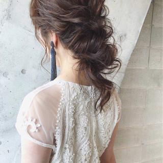 アンニュイ ゆるふわ ヘアアレンジ 結婚式 ヘアスタイルや髪型の写真・画像