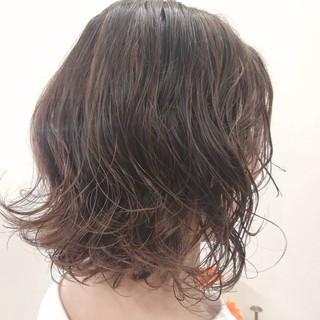 ボブ パーマ #春 ナチュラル ヘアスタイルや髪型の写真・画像