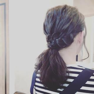 ポニーテール ヘアアレンジ ミディアム パーティ ヘアスタイルや髪型の写真・画像