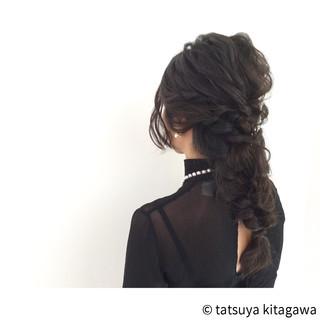 ヘアアレンジ 結婚式 外国人風 ロング ヘアスタイルや髪型の写真・画像