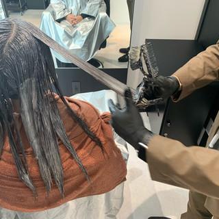 ロング 髪質改善トリートメント ロングヘア ナチュラル ヘアスタイルや髪型の写真・画像