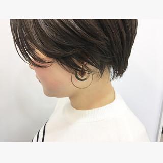 ショート ハンサムショート ショートヘア 小顔ショート ヘアスタイルや髪型の写真・画像 ヘアスタイルや髪型の写真・画像