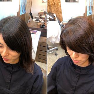 ツヤツヤ ナチュラル ミディアム 美髪 ヘアスタイルや髪型の写真・画像