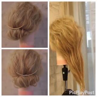 フェミニン ショート セミロング 結婚式 ヘアスタイルや髪型の写真・画像