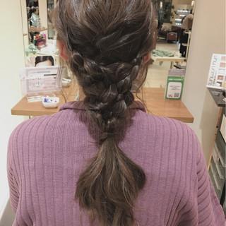 ゆるふわ 編み込み ヘアアレンジ ロング ヘアスタイルや髪型の写真・画像