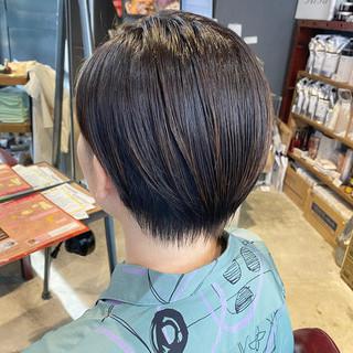 ショート 暗髪女子 ナチュラル 大人ショート ヘアスタイルや髪型の写真・画像 | Nakaji. / ensue