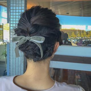ボブ 簡単ヘアアレンジ 波ウェーブ 大人可愛い ヘアスタイルや髪型の写真・画像 ヘアスタイルや髪型の写真・画像
