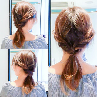 ヘアアレンジ デート セルフアレンジ フェミニン ヘアスタイルや髪型の写真・画像
