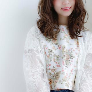 ガーリー ゆるふわ 大人かわいい 大人女子 ヘアスタイルや髪型の写真・画像