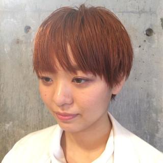 ストリート 木村カエラ カッパー オレンジ ヘアスタイルや髪型の写真・画像