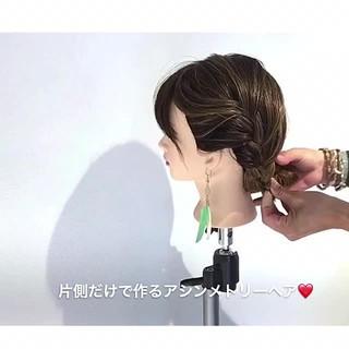 デート フェミニン 女子会 ヘアアレンジ ヘアスタイルや髪型の写真・画像