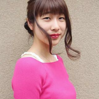 グラデーションカラー フェミニン ヘアアレンジ 透明感 ヘアスタイルや髪型の写真・画像