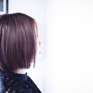 ミディアム ラベンダーピンク ラベンダーグレージュ ラベンダー ヘアスタイルや髪型の写真・画像
