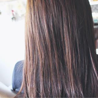 大人女子 アッシュ モーブ ピンク ヘアスタイルや髪型の写真・画像