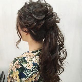 パーティ 大人かわいい 大人女子 ロング ヘアスタイルや髪型の写真・画像