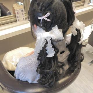 ふんわり ガーリー  ロング ヘアスタイルや髪型の写真・画像 ヘアスタイルや髪型の写真・画像