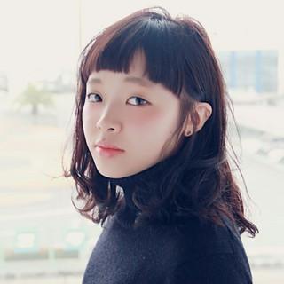大人かわいい 簡単 黒髪 パーマ ヘアスタイルや髪型の写真・画像