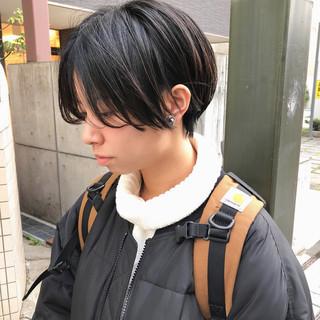 黒髪ショート ハンサムショート ショート 簡単スタイリング ヘアスタイルや髪型の写真・画像