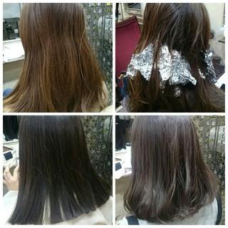 アッシュ グラデーションカラー フェミニン 外国人風 ヘアスタイルや髪型の写真・画像