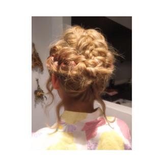 波ウェーブ 編み込み ボブ ラフ ヘアスタイルや髪型の写真・画像