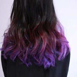 カラーバター ストリート グラデーションカラー ロング ヘアスタイルや髪型の写真・画像