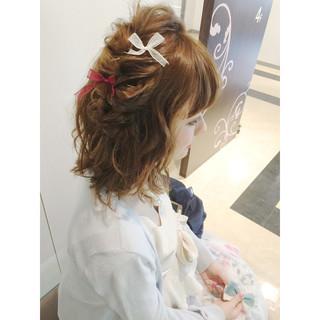 ブラウン 夏 外国人風 ゆるふわ ヘアスタイルや髪型の写真・画像